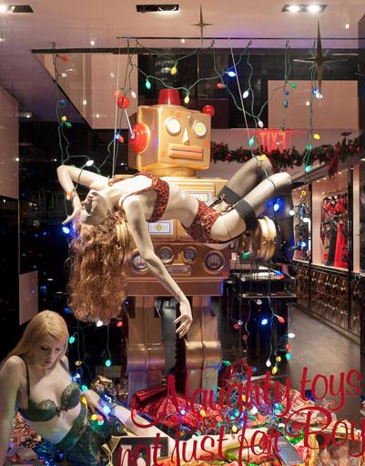 Рождественская витрина Agent Provocateur