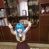 """Анюта Векслер 4 года г.Иркутск """" Девочка с голубыми волосами"""""""