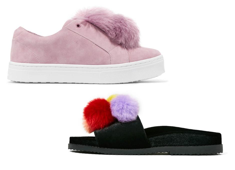 Обувь с помпонами