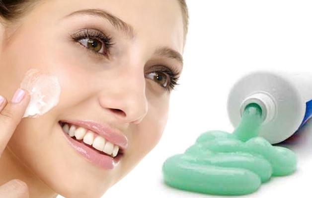 зубная паста на лицо