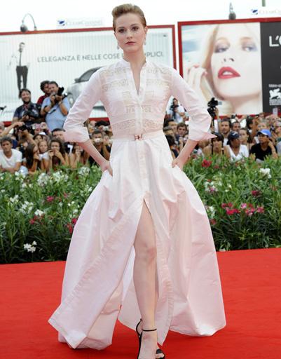 Эван Рэйчел Вуд (Evan Rachel Wood) на открытии 68-го Венецианского кинофестиваля