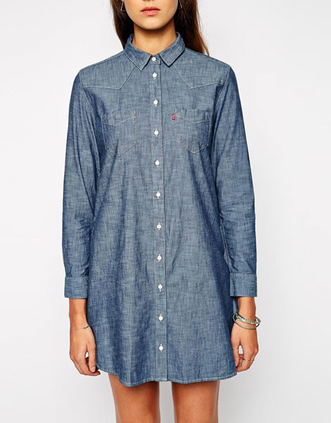 Платье-рубашка из денима Levi's, 9883 р.