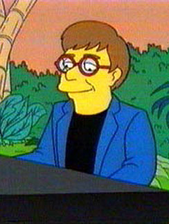 """Элтон Джон (Elton John) в мультфильме """"Симпсоны"""""""