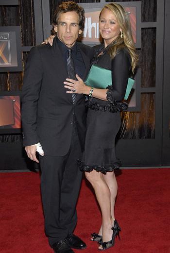 Бен Стиллер с женой Кристин Тейлор