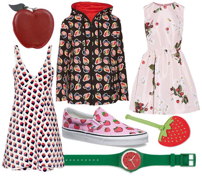 Выбор ELLE: платья Victoria by Victoria Beckham и Valentino, ветровка Fendi, часы Swatch, брелок Strawberry, кеды Vans, кошелек Hermes