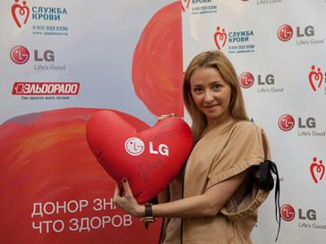 Татьяна Навка стала послом LG в области донорства