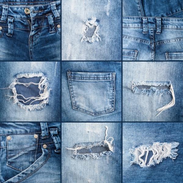 Состаренные джинсы