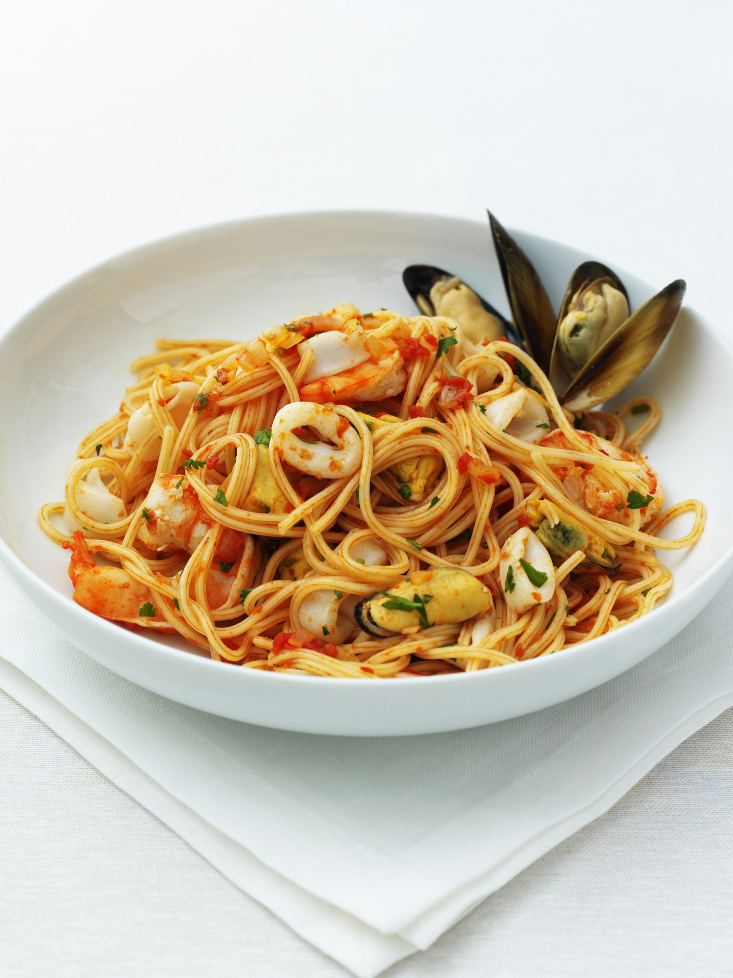 Рецепт спагетти с морепродуктами пошагово в