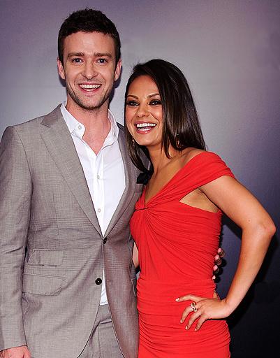 Джастин Тимберлейк (Justin Timberlake) и Мила Кунис (Mila Kunis)