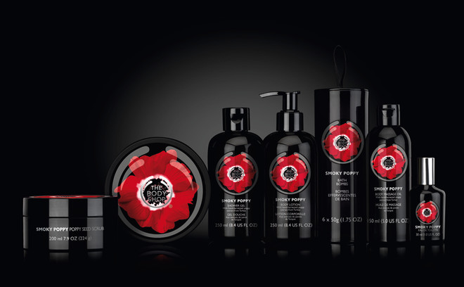 The Body Shop, коллекция средств для ухода за телом и макияжа Smoky Poppy