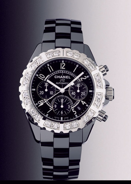 «Часы, которые я ношу, — Black Chronograph, Chanel, с бриллиантами. Это подарок».