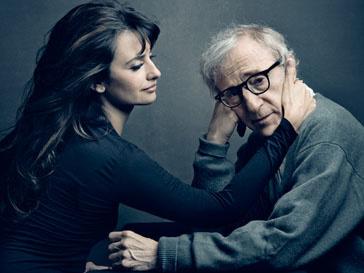 Пенелопа Крус (Penelope Cruz) и Вуди Аллен (Woody Allen) на фотографии Энни Лейбовиц (Annie Leibovitz)