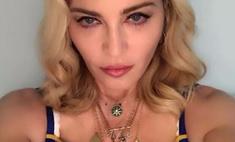 Мадонна пришла на свадьбу в костюме клоуна