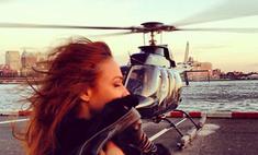 Алена Водонаева научилась управлять вертолетом