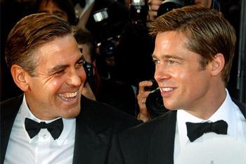 Джордж Клуни и Брэд Питт.