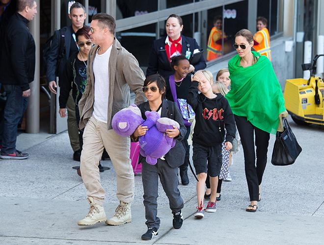 Семья Джоли и Питта: фото