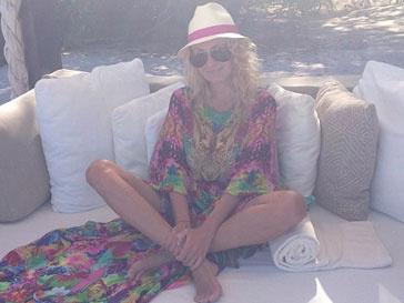 Яна Рудковская на пляже во время отдыха в Мексике