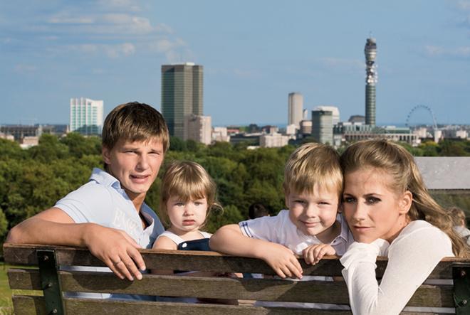 Семья Андрея Аршавина в полном составе.