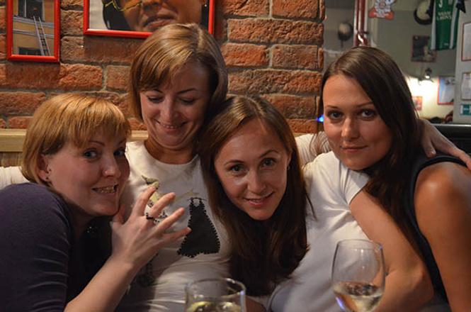Ирина Денежкина с подругами
