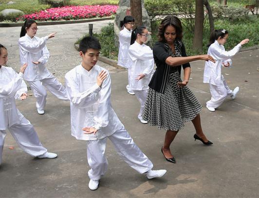 Мишель Обама познакомилась с искусством цигун