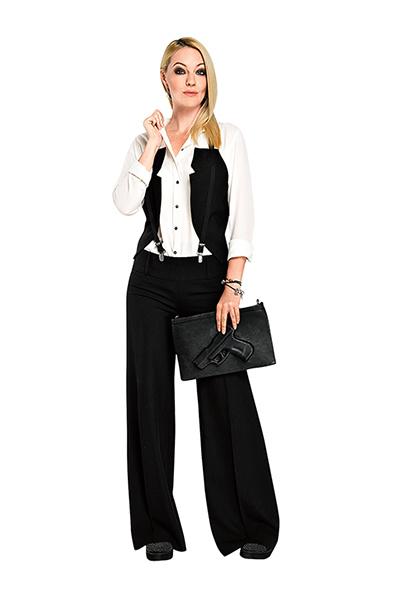 Рубашка Olivaceous, жилет Cop.copine, брюки Promod, ботинки ALDO, сумка Vlieger&Vandam