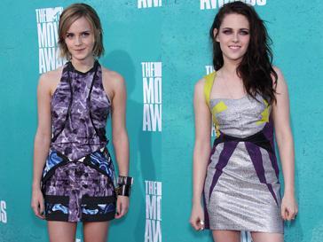 Эмма Уотсон (Emma Watson) и Кристен Стюарт (Kristen Stewart) в который раз стали триумфаторами MTV Movie Awards
