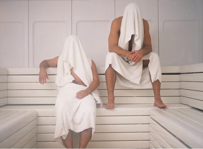 в баню при температуре