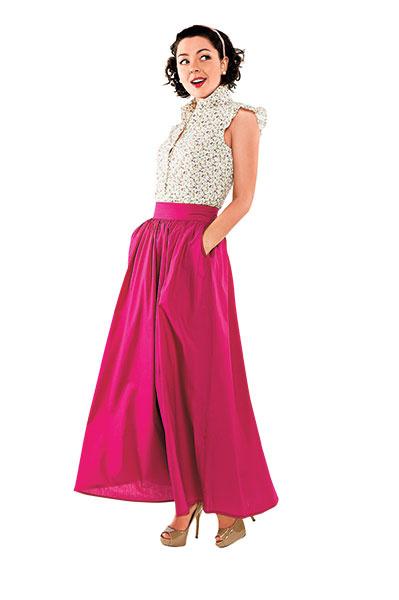 Блузка Fiorucci, юбка от Нади Хохловой, туфли Aldo