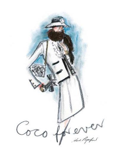 Эскиз Карла Лагерфельда (Karl Lagerfeld), дом Chanel