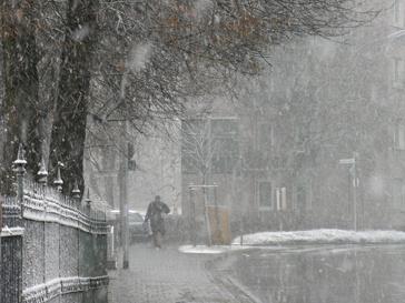 Холодная погода в городе