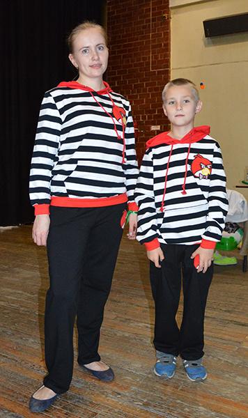 Елена и Сергей Мизевы, маленькие копии мам