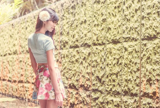 юбка с цветами с чем носить