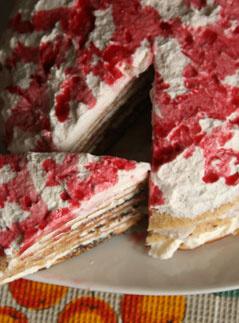 блинный торт, блины, блинный пирог, блинчатый торт, Масленица, рецепты, рецепты блинов, торт со взбитыми сливками, выпечка, кулинарный мастер-класс, миндальные блины