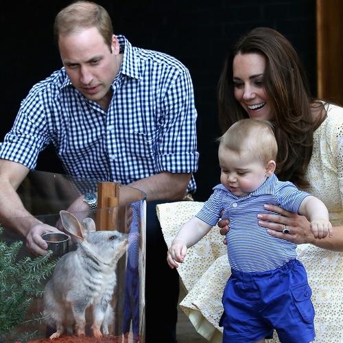 Принц Уильям, Кейт Миддлтон и их сын Джордж