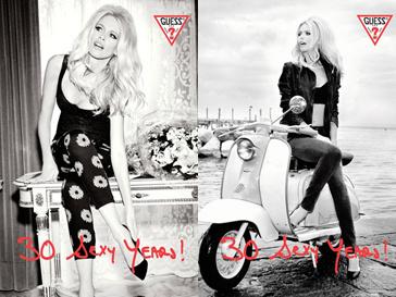 Клаудия Шиффер в рекламной кампании капсульной коллекции Guess, 2012 год