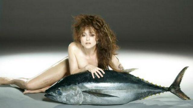 Хелена Бонэм Картер защищает рыб в поддержку фонда Fishlove