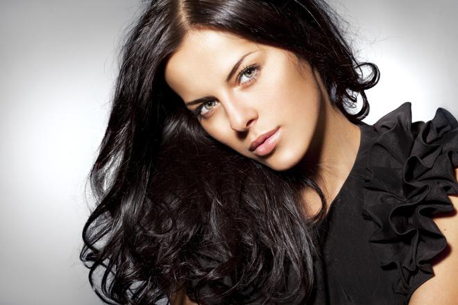 Черные оттенки волос