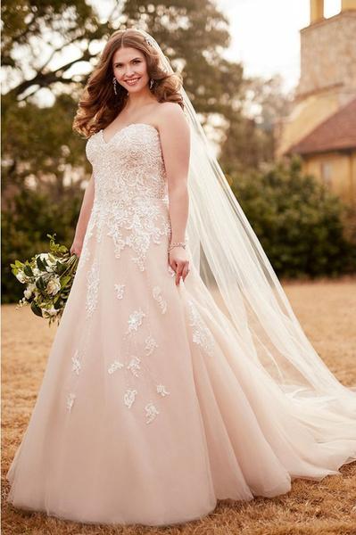 Свадебные платья для полных женщин: фото