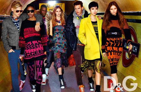 Кадр из рекламной кампании D&G, осень-зима 2011/12
