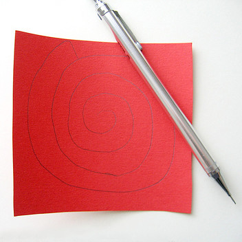 Бумажная роза