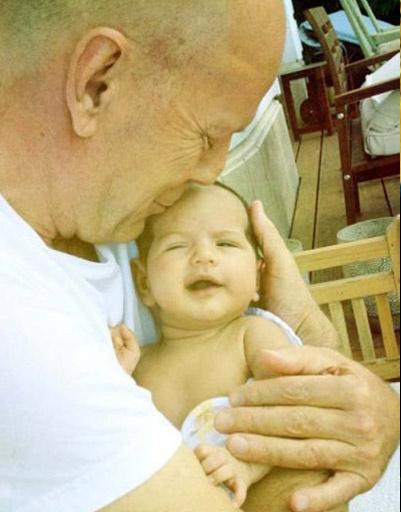 Брюс Уиллис (Bruce Willis) с младшей дочкой