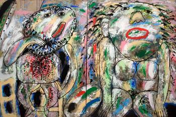 «В мастерской. Художник и модель», 2000