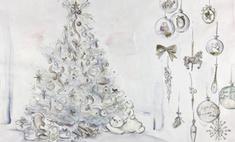 Роскошь и гламур: Dior создал рождественскую елку