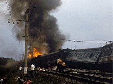 Столкнулись два поезда