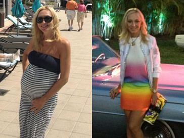 Кристина Орбакайте до и после родов