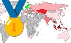 карта разных странах платят золотую медаль олимпийских играх