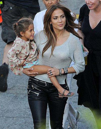 Дженнифер Лопес (Jennifer Lopez) с дочкой Эммой (Emme)