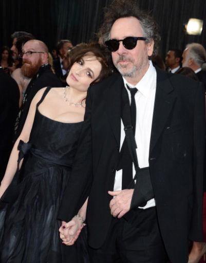 Тим Бертон (Tim Berton) и его жена Хелена Бонэм Картер (Helena Bonham Carter)