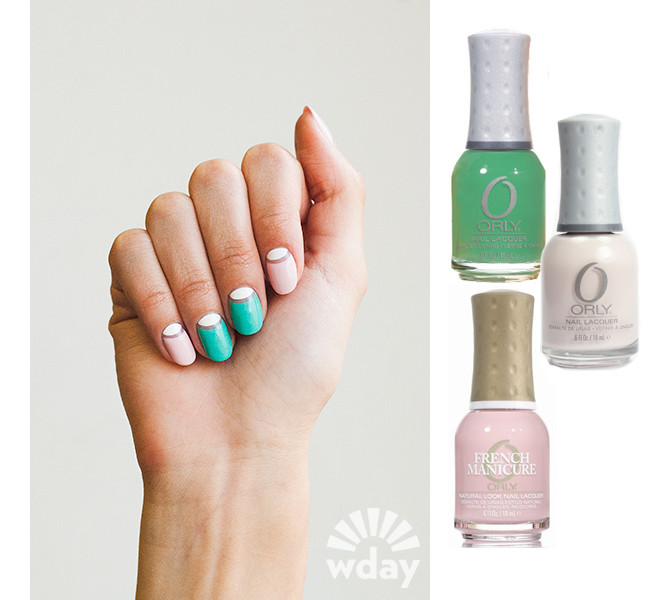 Orly, Mint Mojito -зеленый, Angel Face - розовый, Alpine Snow - белый,