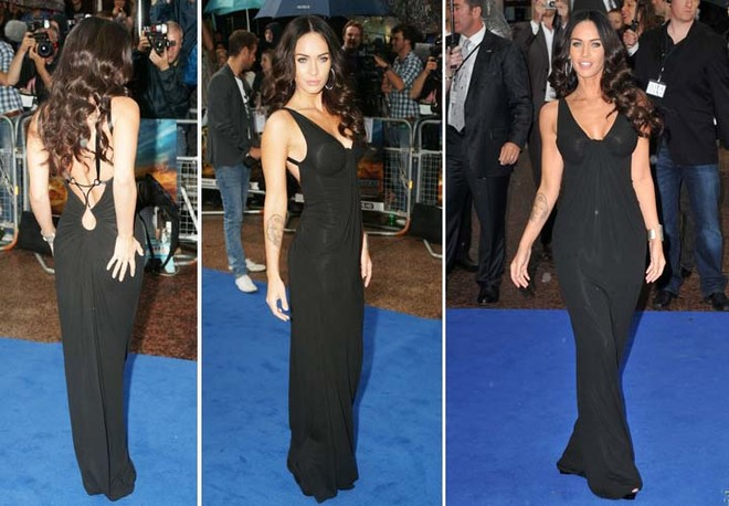 На премьере «Трансформеров» в Лондоне Меган Фокс появилась в платье Kaufman Franco